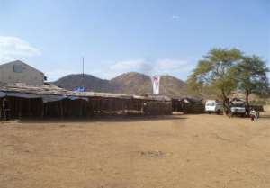 A picture released by Medecins Sans Frontieres shows its hospital in Farandalla, in Sudan's South Kordofan region, on November 11, 2011.  By  (Medecins Sans Frontieres/AFP/File)