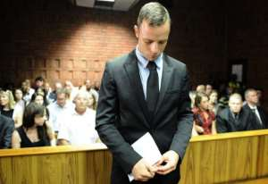 South African Olympic sprinter Oscar Pistorius appears on February 20, 2013 at the Magistrate Court in Pretoria.  By Stephane de Sakutin (AFP)