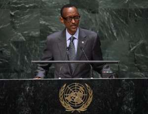 Rwanda President Paul Kagame, seen here at the 69th session of the United Nations General Assembly, was the target of a possible divine uprising by a prayer group jailed on Monday.  By Don Emmert (AFP/File)