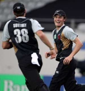 New Zealand restricted South Africa to just 56 runs in the final eight overs.  By Michael Bradley (AFP)