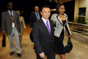 Ousted Madagascar president Marc Ravalomanana (C), on August 16, 2012.  By Stephane de Sakutin (AFP/File)