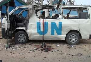 Somalia's Al-Qaeda-affiliated Shebab insurgents claimed responsibility for the attack, branding the United Nations a