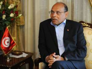 Tunisian President Moncef Marzouki pictured on February 20, 2013, at Carthage palace in Tunis.  By Fethi Belaid (AFP/File)