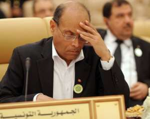 Moncef Marzouki attends the third Arab Economic, Social and Development Summit in Riyadh on January 22, 2013.  By Fayez Nureldine (AFP/File)
