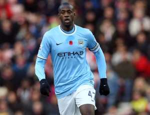 Yaya Toure controls the ball during an English Premier League football match at Stadium of Light in Sunderland, northeast England on November 10, 2013.  By Ian MacNicol, Ian MacNicol (AFP/File)