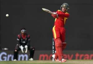 Zimbabwe batsman Sean Williams, who was named man of the match for an unbeaten 76, pulls the ball to the boundary against the United Arab Emirates in their World Cup match in Nelson on February 19, 2015.  By William West (AFP)