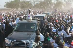 Akufo-Addo's Land Cruiser seized and taken to Castle