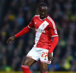 Albert Adomah has been left out if the Middlesbrough squad