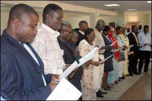 TMA Gov't Appointees Sworn-In