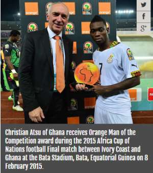 Ghana players sweep AFCON 2015 awards despite title defeat