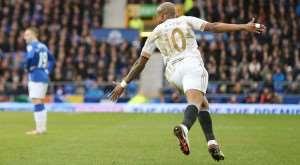 Goal-hero Andre Ayew hails spirited Swansea display in crucial Everton win
