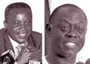 • Hon. Kwadwo Baah Wiredu - Minister of Finance and Economic Planning (left), • Hon. Kwamena Bartels - Minister for Information and National Orientation (right)