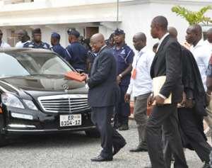 Nana Akufo Addo leaving court yesterday