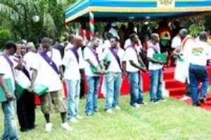 Ghanaian President Honours Black Stars