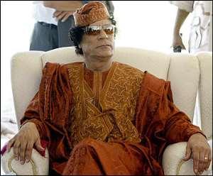 What happened to the Quadafi visit?
