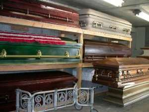Coffin makers cry over low sales