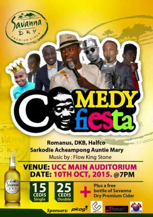 """Foster Romanus, DKB, Flowking Stone, Others Storm UCC For """"Comedy Fiesta"""" Show"""