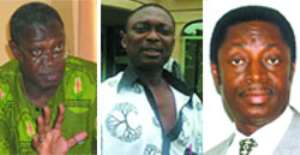 • Prof. Badu Akosa (left), • Mr. Kweku Baako Junior (middle), • Dr. Kwbena Dufuor (right)