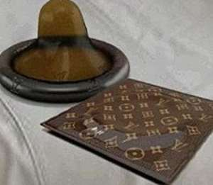 The condoms go for US$68 each