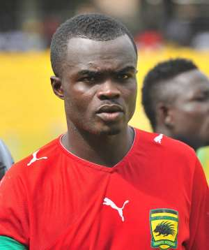 Amos Frimpong of Asanti Kotoko during the MTN FA CUP ©Christian Thompson/BackpagePix