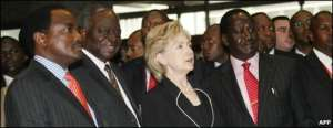 Hillary Clinton is on her first trip to Africa as secretary of state