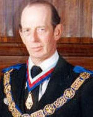 Duke of Kent arrives for anniversary