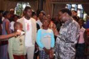 During Healing Service