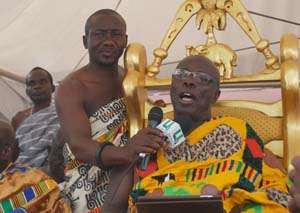 Okyenhene Leads Protest Over Bad Roads
