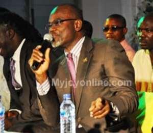 Dr Kofi Amoah speaking at the inauguration