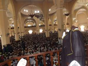 Mufti Mubajje Adressing Muslims at U.M.S.C.Photo By Umaru Weswala.