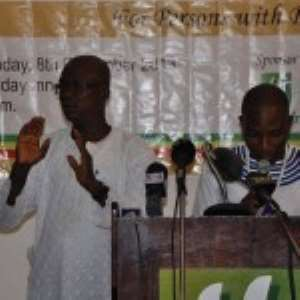 Sackifio delivering a speech