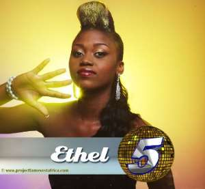 ETHEL WAVES THE GHANA FLAG AT PROJECT FAME