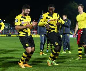 Ghanaian midfielder Evans Nyarko rescues a point for Borussia Dortmund in German lower-tier league game