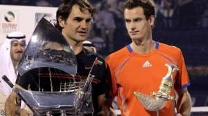 Federer (l) looked impregnable against Murray(r)