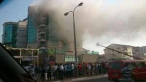 Ghana: the offices of the former international, Samuel Kufuor on fire!