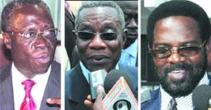 Mr. Osafo-Maafo (left), President Atta Mills (middle), Dr. Alfred Vandapuije - Accra Mayor (right)