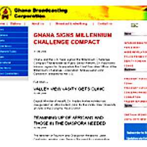 Home Page of GBC Website