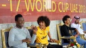 Asamoah Gyan and his team-mate AbdulRahman traveled to watch Nigeria