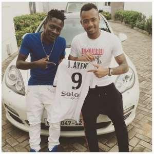 Ghana striker Jordan Ayew and Shatta Wale