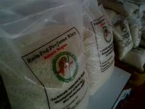 A packaged domestic lowland rice