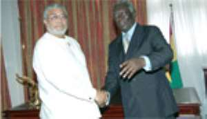 JAK, JJ Make Love •As Kufuor Calls For Fair Trade