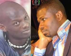 Lord Kenya (left), Mark Okraku Mantey (right)