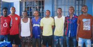 The suspected Ashaiman armed robbers.