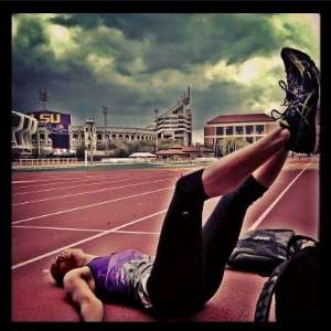 Image of the day : Get up or quit? – wondering Lolo Jones