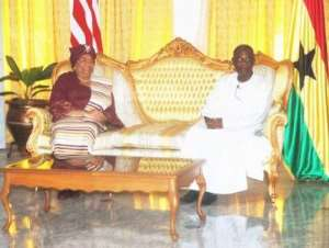 Liberian President Stops Over In Accra