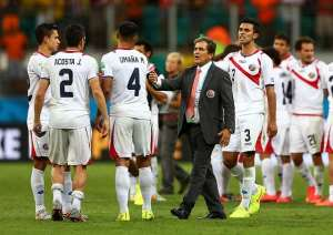 Satisfied losers: Coach Jorge Luis Pinto: Costa Rica hurt, but happy after FIFA World Cup exit