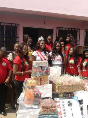 Miss ECOWAS Ghana Queen & Friends Support Save Them Young Orphanage