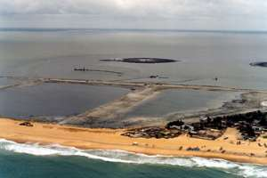 Keta Sea Defence wall threatened