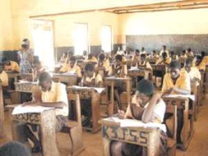 Some BECE candidates taking their examination