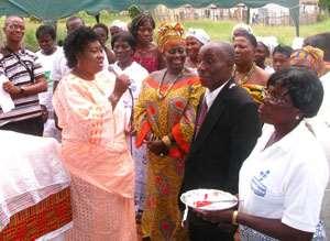Akumaa with the Ghanaian community in Doha